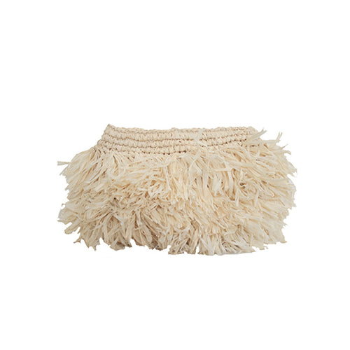The Straw Holiday Clutch Natural - MOOS STRAW BAGS