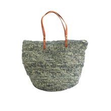 The Straw Beach Bag Grey - MOOS STRAW BAGS