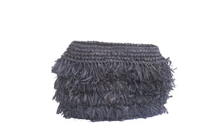 The Straw Holiday Clutch Black - MOOS STRAW BAGS