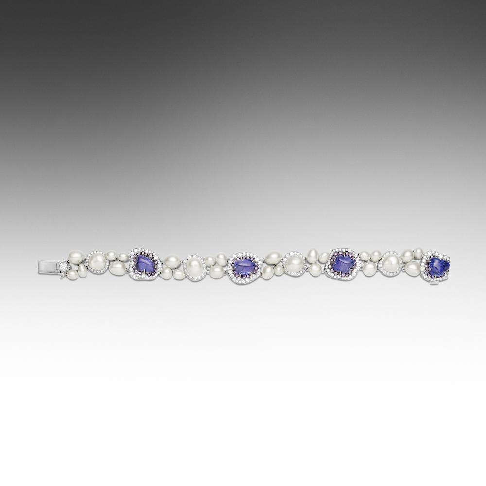 tw in tanzanite white bracelet diamond and gold