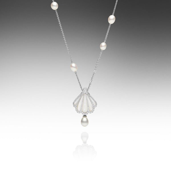 Rockpool Long Chain White Gold