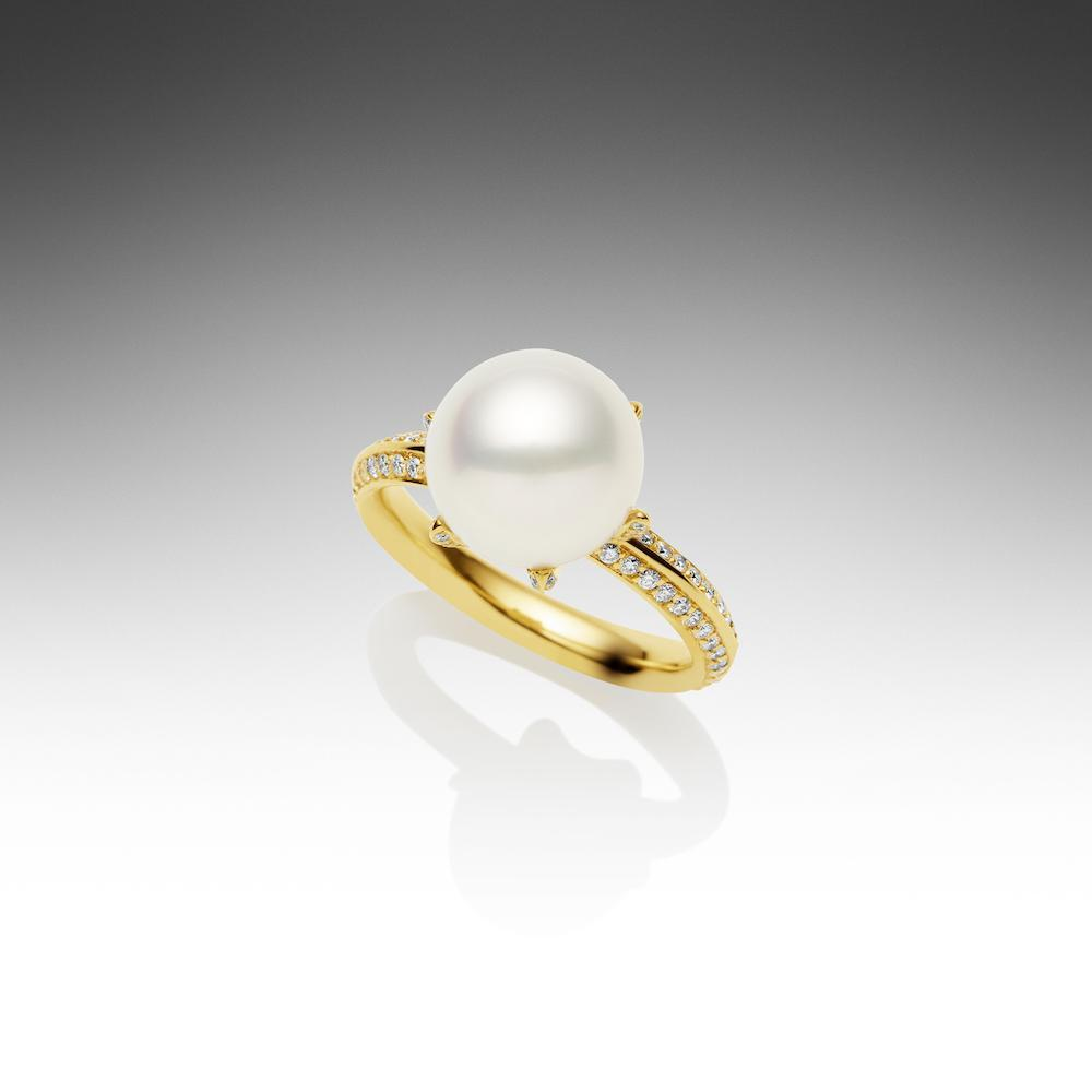 Rockpool Ring Yellow Gold 56