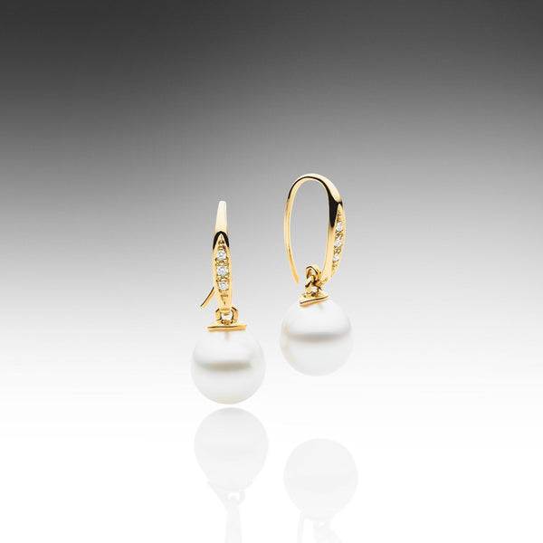 Diamond Design Hook Earrings
