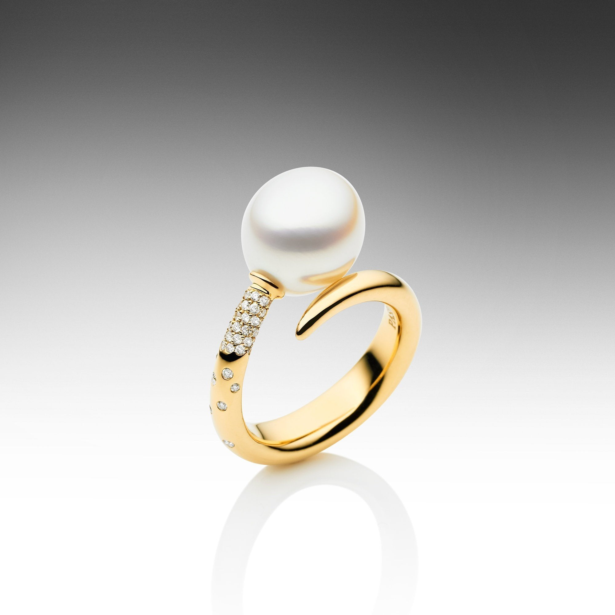 gold rings wedding diamonds en ring and australian diamond white pearl