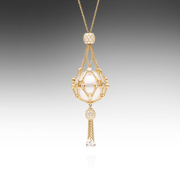 Lavalier White Diamond- Tassel