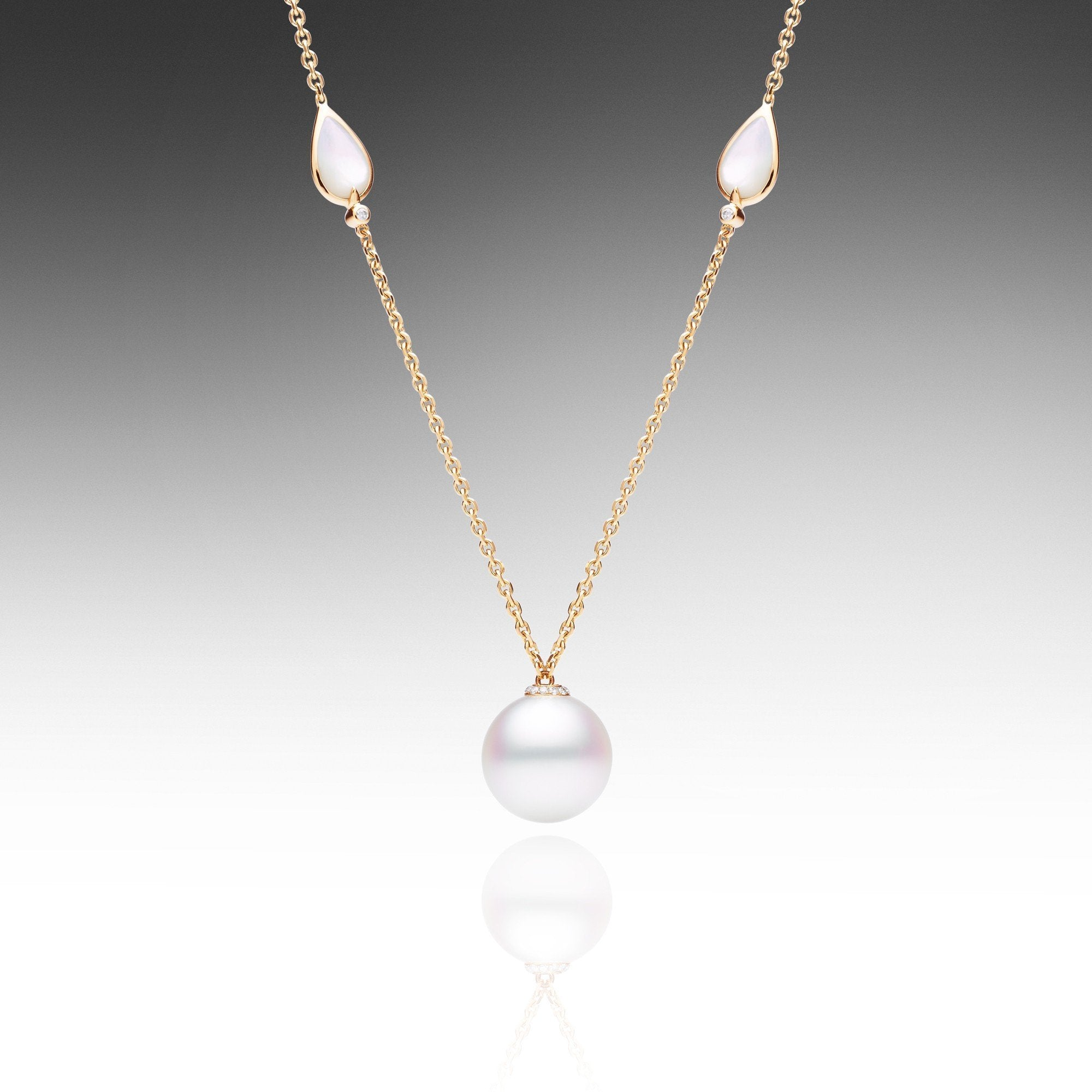 single white product silver coin pearl img necklace