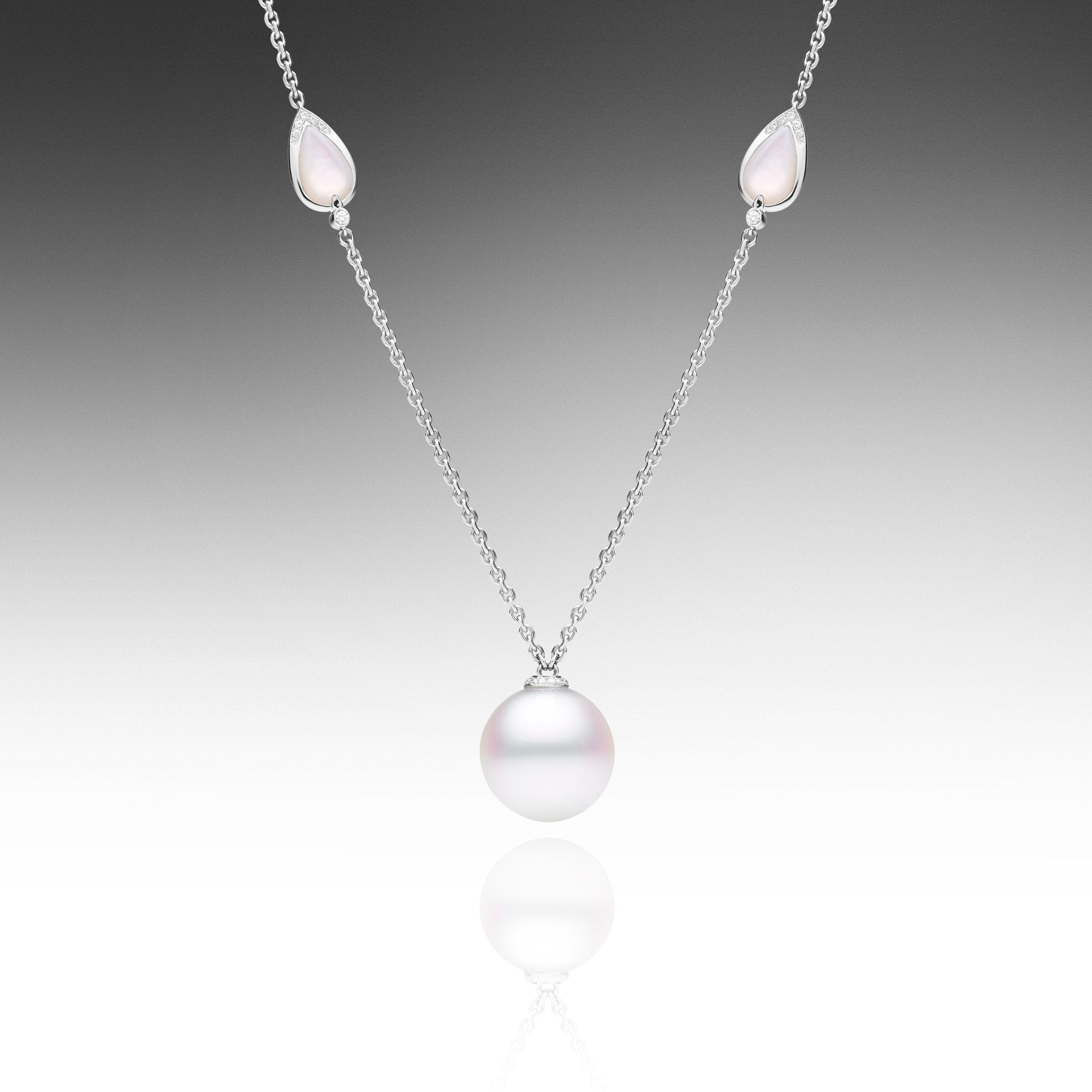 pearl single jewellery anma product necklace medium chain