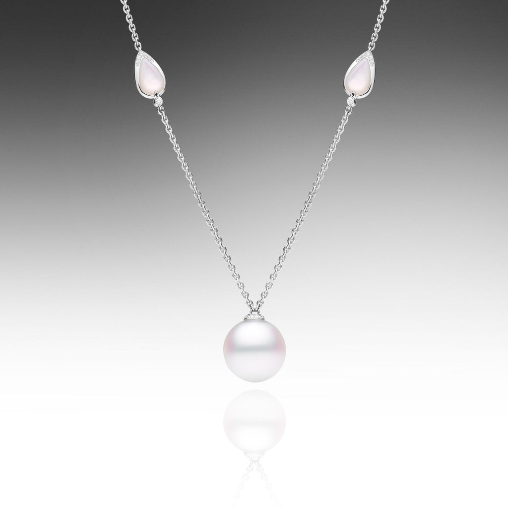 Maxima white gold diamond south sea pearl rope necklace paspaley maxima single pearl necklace mozeypictures Gallery