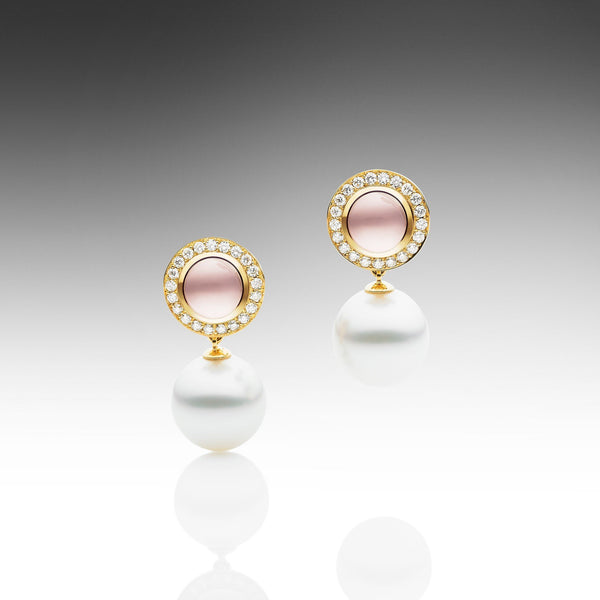 Muse Rose Quartz Earrings
