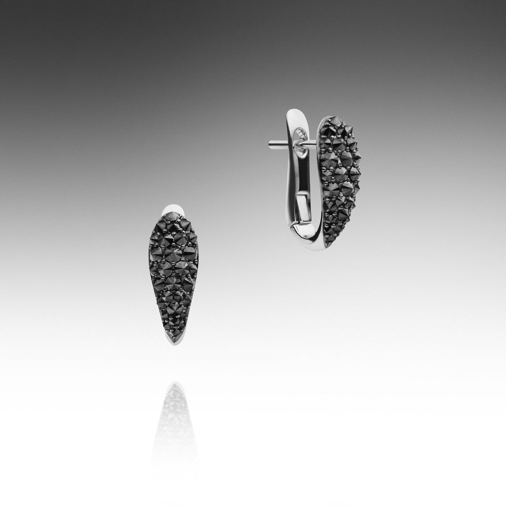earrings details burnished diamond itm jewellery is image ladies black loading on about clip coloured s gold