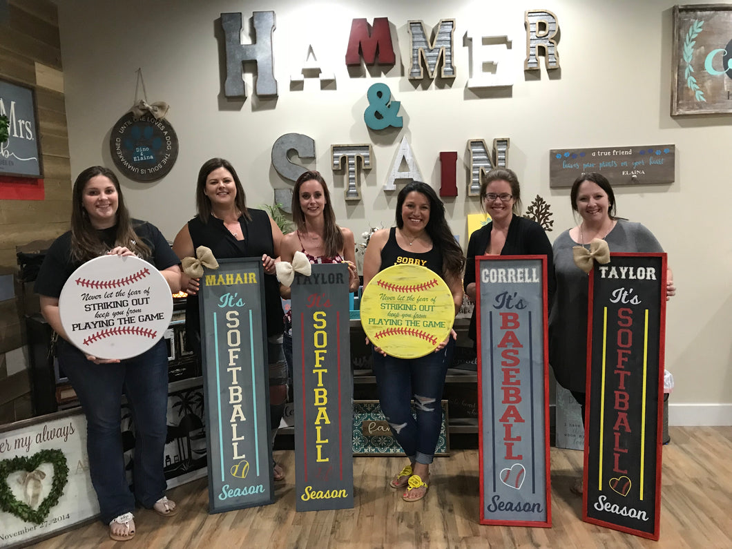 Softball Baseball Themed Projects Gallery Hammer Stain