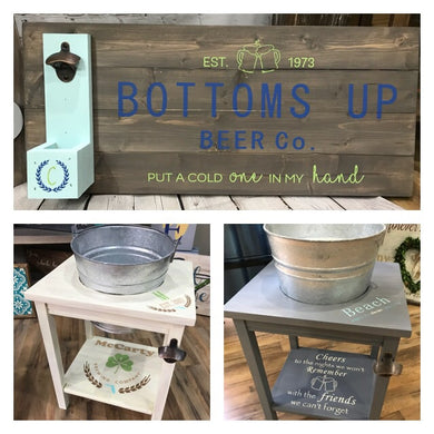 Ice Bucket Table/Bottle Opener Pallet Gallery