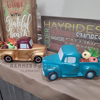 Vintage Ceramic Fall Truck Gallery