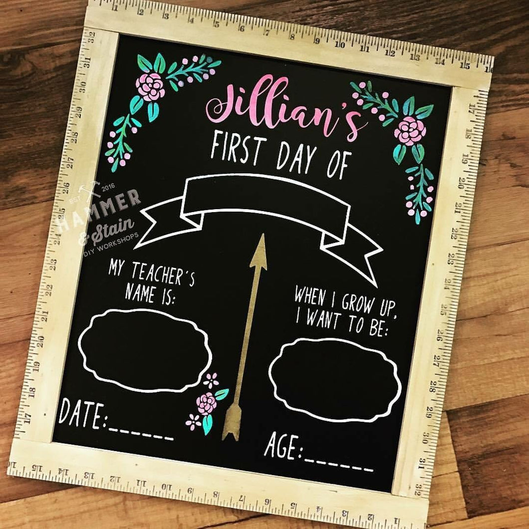 08/03/2018 6:30pm Back To School Chalkboard Workshop (Clermont)