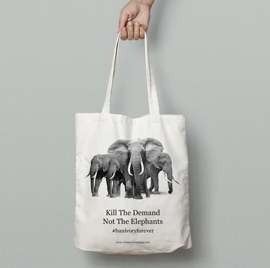 """ban ivory forever"" tote bag"