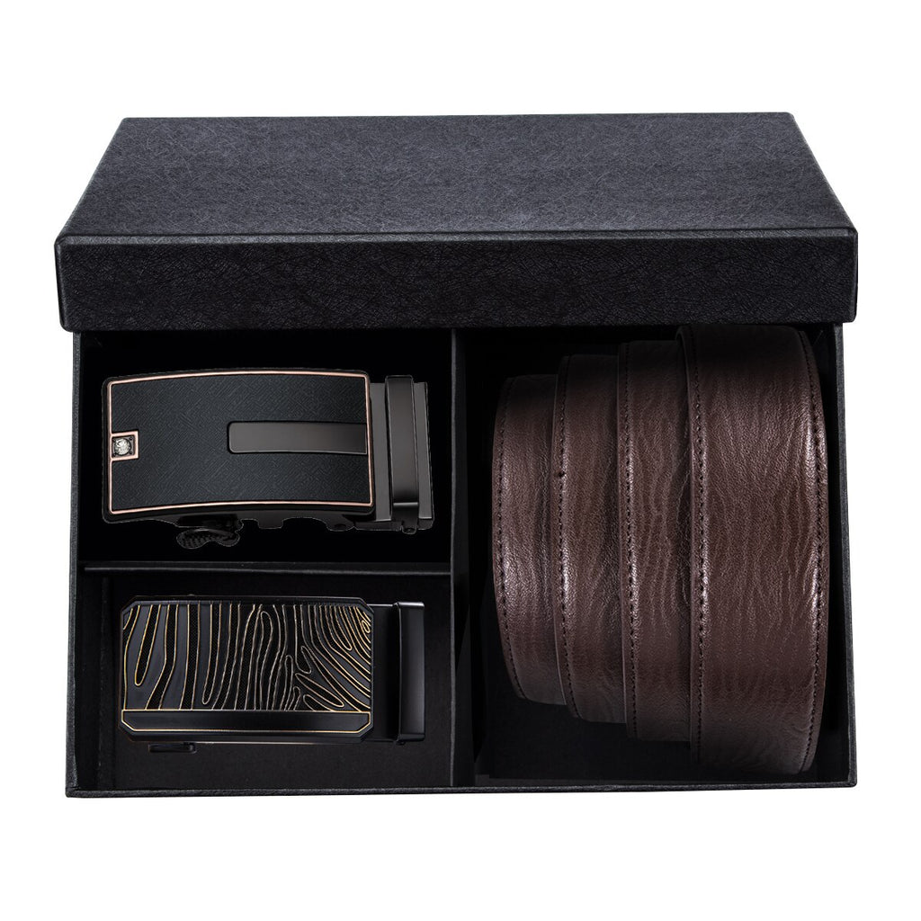 Box ceinture homme marron design
