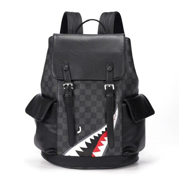 Shark leather backpack Backpacks only-gentlemen.com Free shipping