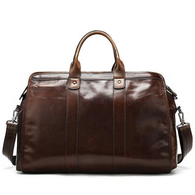 Coffee leather travel bag Travel Bags only-gentlemen.com Free shipping