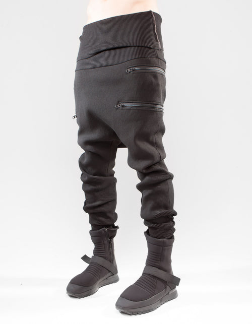 TROUSERS HEAVY RIB ZIP