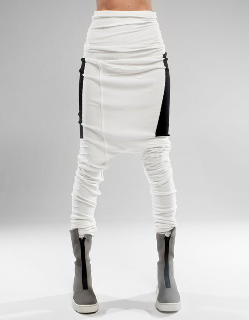 LEGGINGS WHITE BLACK