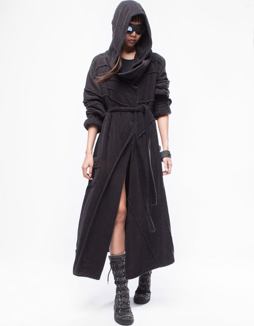 BATHROBE PURITY BLACK W