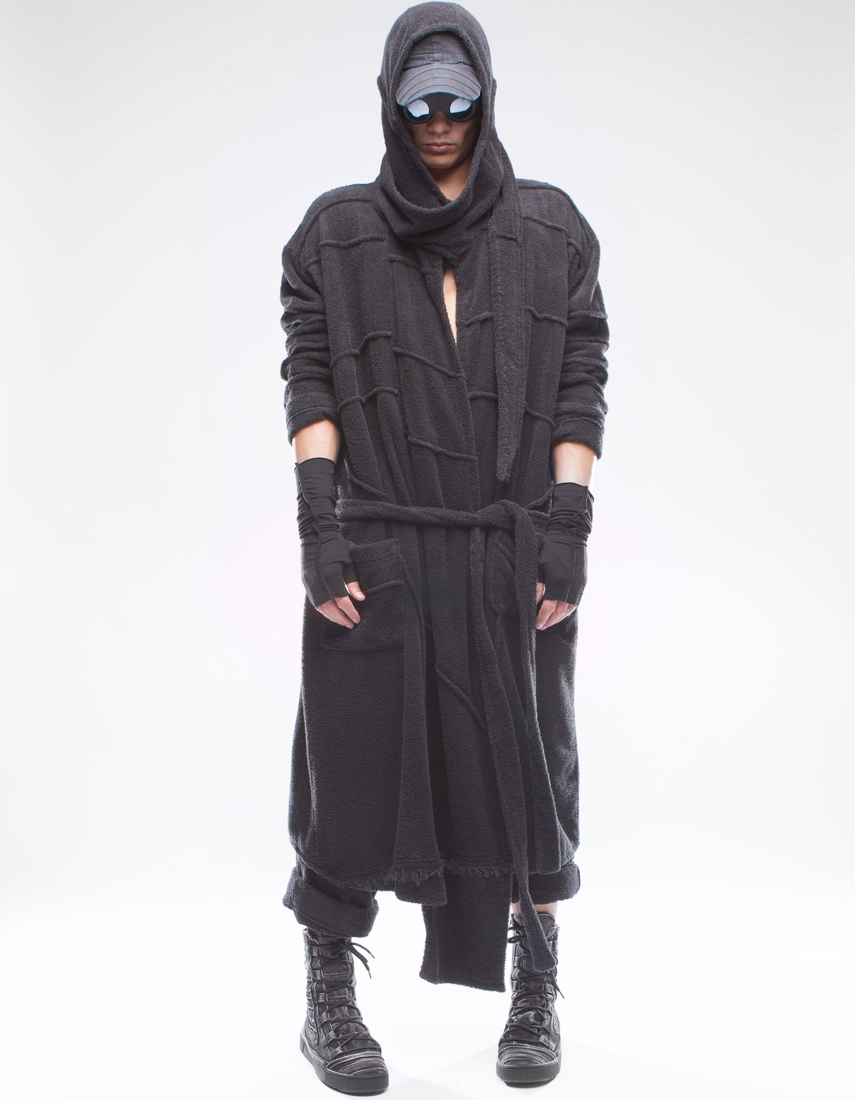 BATHROBE PURITY M BLACK