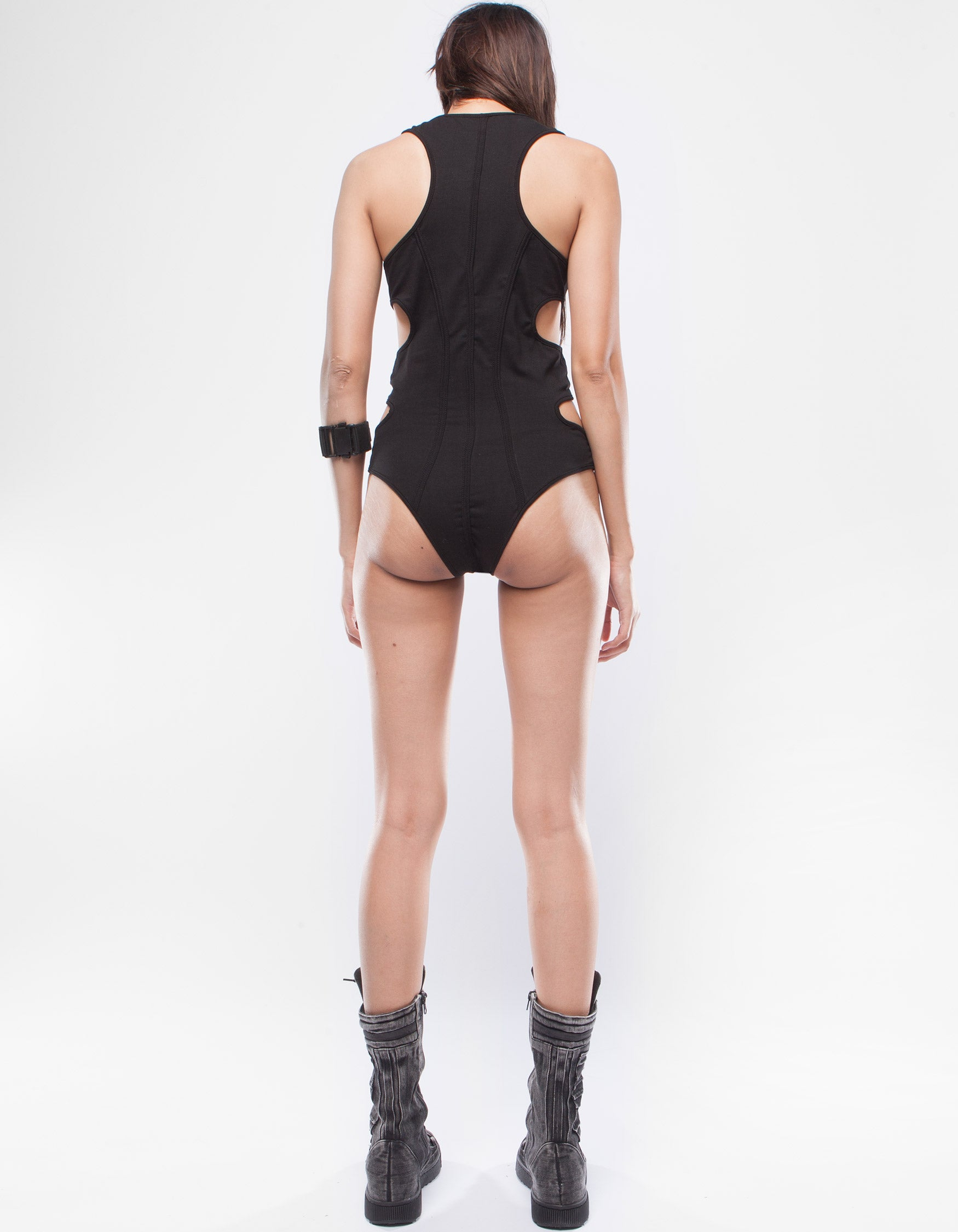 BODY SUIT BLACK FLAME
