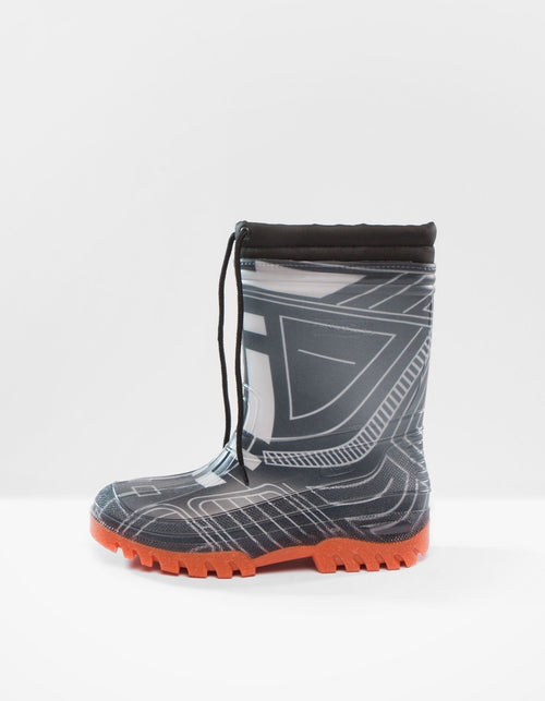 DEMOBAZA RUBBER BOOTS  STRUCTURE BLACK 01