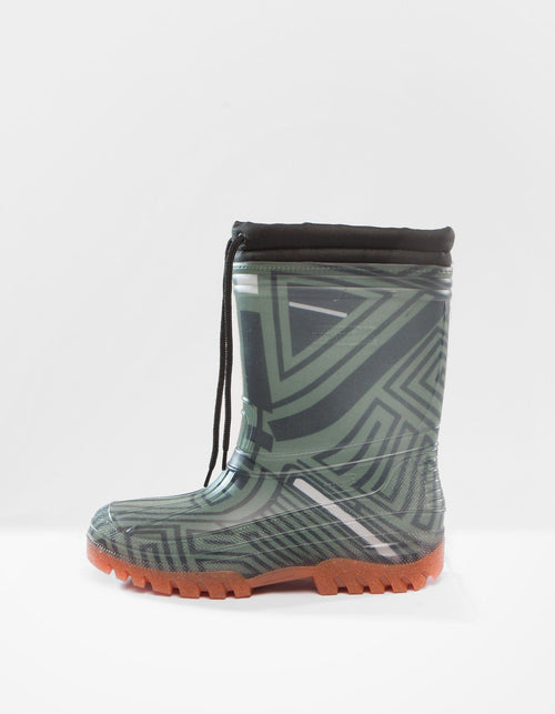 DEMOBAZA RUBBER BOOTS  STRUCTURE GREEN 01