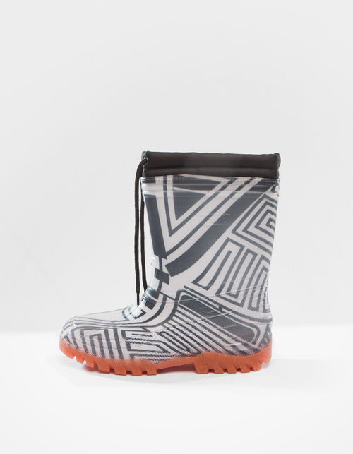 DEMOBAZA RUBBER BOOTS  STRUCTURE WHITE 01