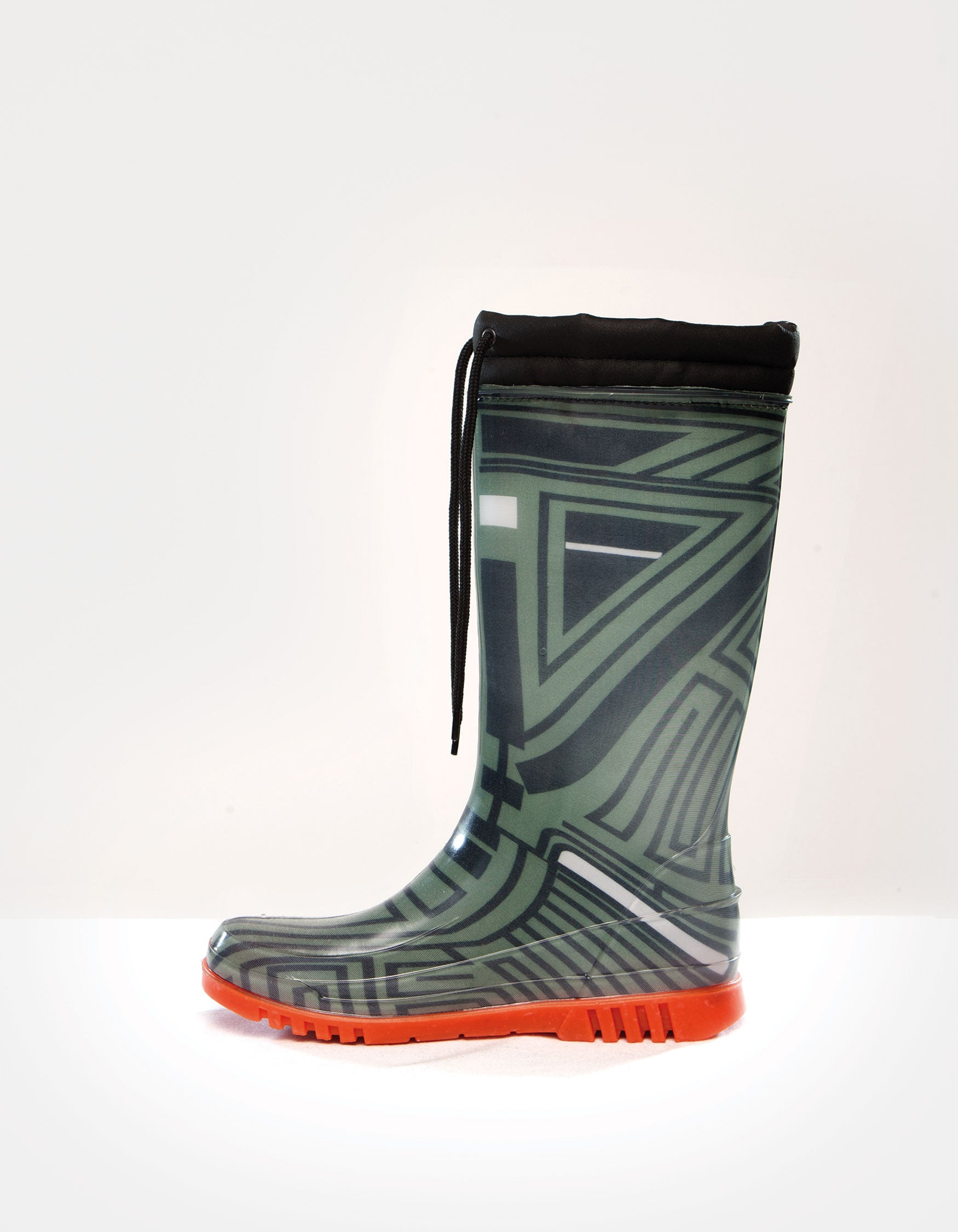 DEMOBAZA RUBBER BOOTS  STRUCTURE GREEN 01 W