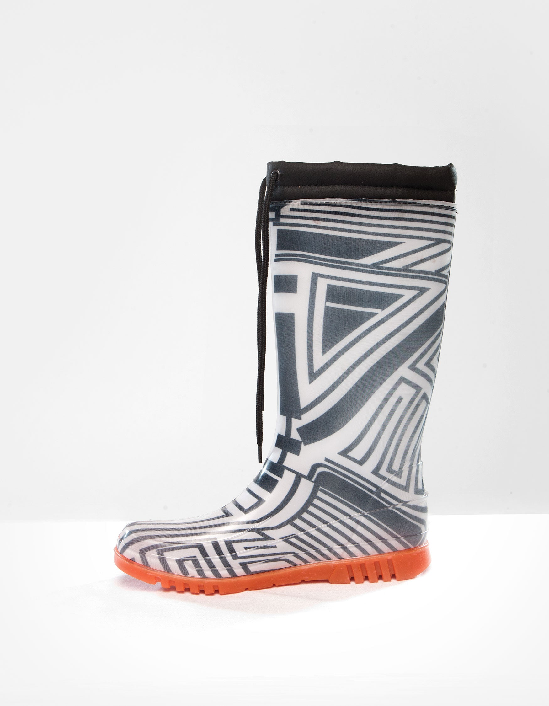 DEMOBAZA RUBBER BOOTS  STRUCTURE WHITE 02 W