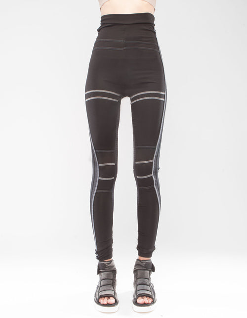 LEGGINGS BLACK GRID