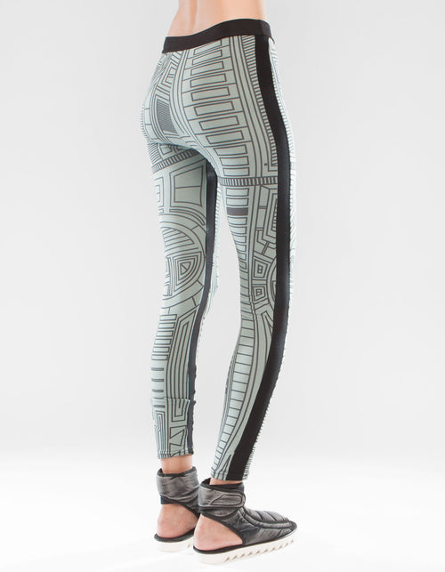LEGGINGS STRUCTURE BLUE W