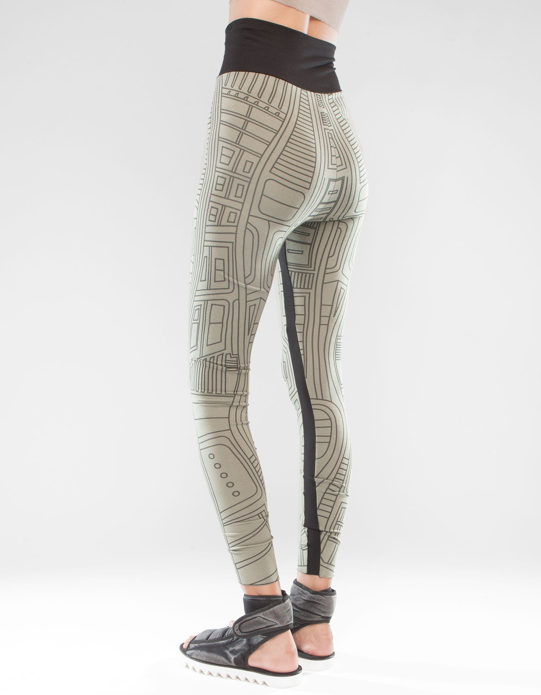 LEGGINGS STRUCTURE GREEN W
