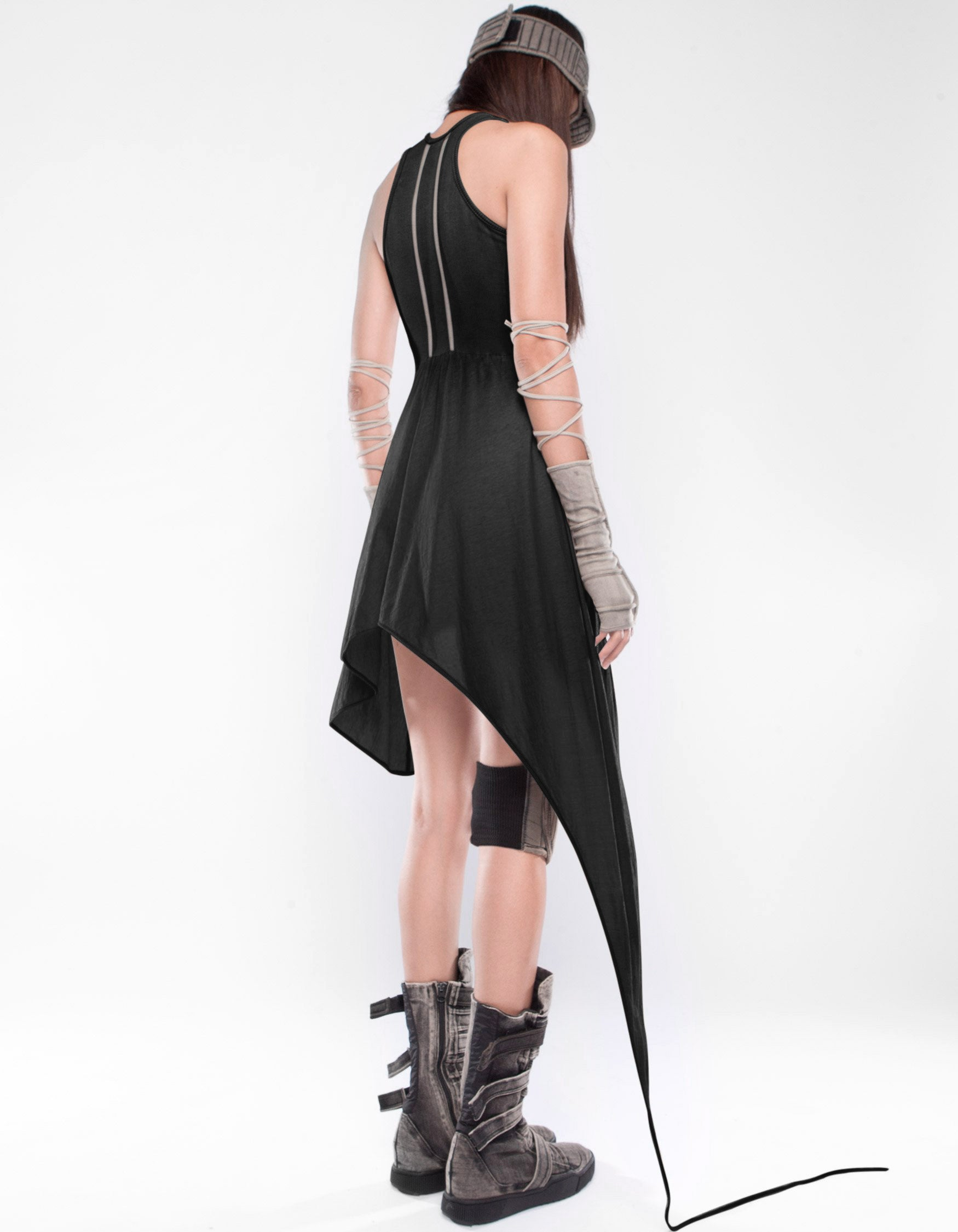 SHORT DRESS INTAO LINES INVERT