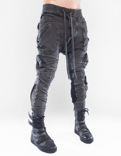 TROUSERS BLACK CRYSTALLIZE