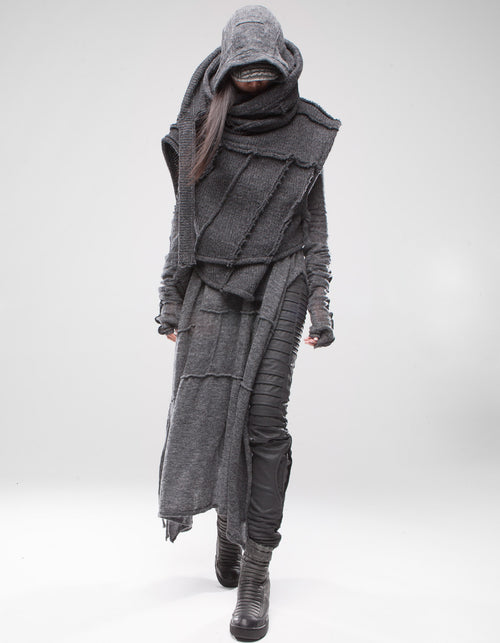 VEST SHAWL GREY SHEPHERD
