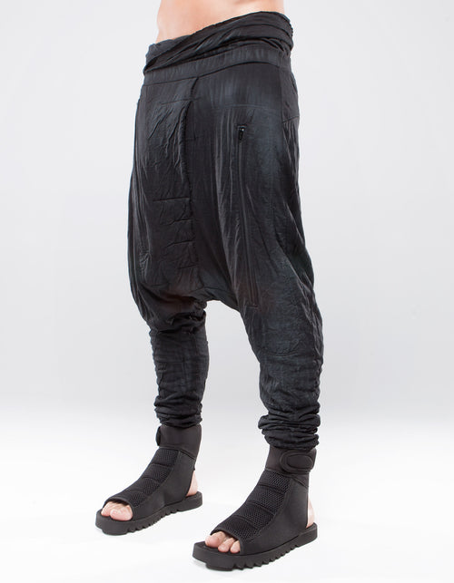 TROUSERS BAGGY RESIN BLACK