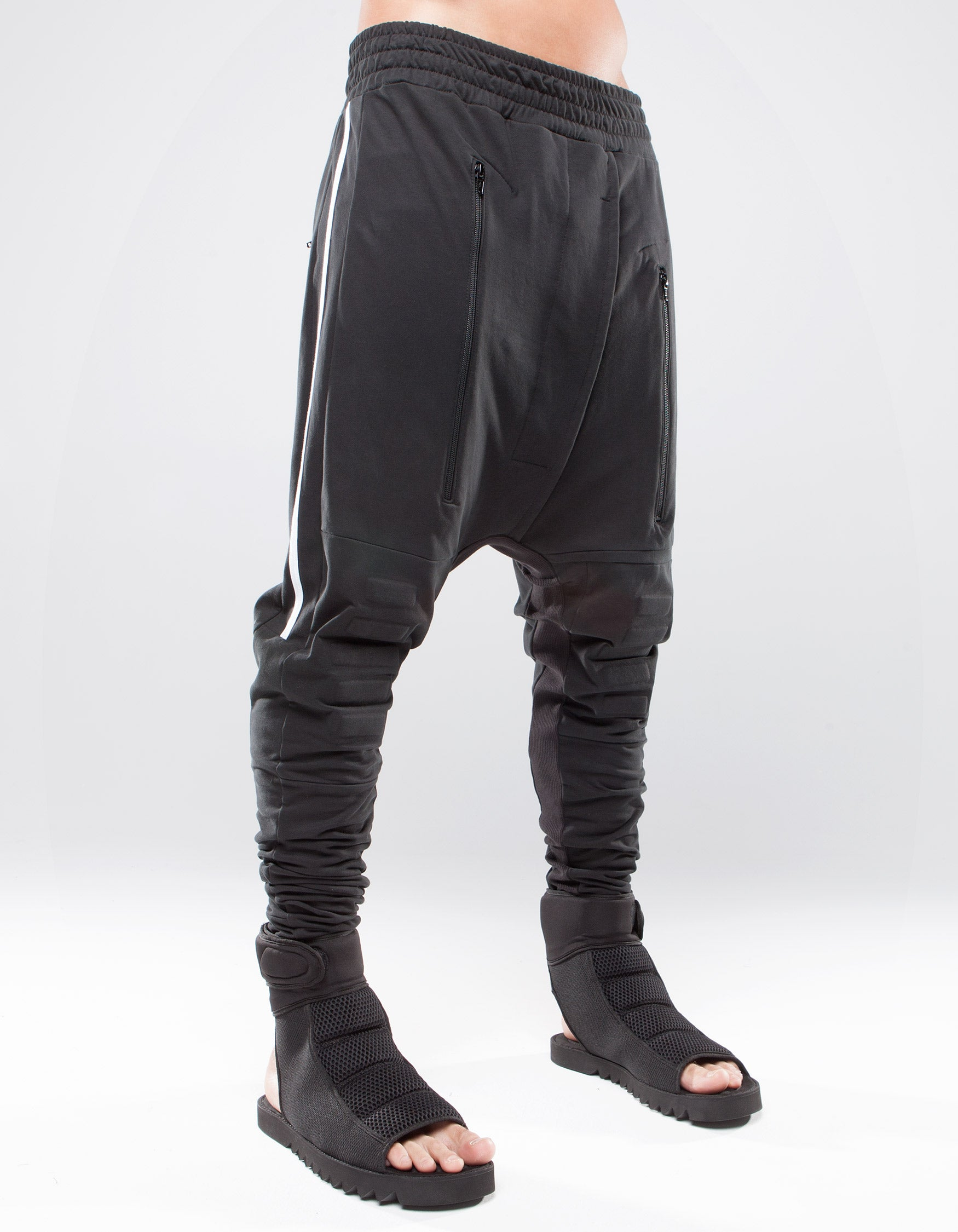 TROUSERS CONTRAST BLACK