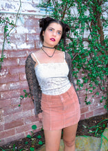 Dusty Pink Corduroy Mini Skirt