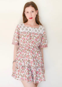 Frilled Floral Cottage Chic Dress