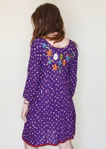 Flower Power Embroidered Dress
