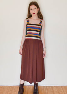 70's Striped Pinafore