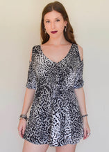 Grey Leopard Print Dress