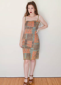 Funky Olive Print Pencil Dress