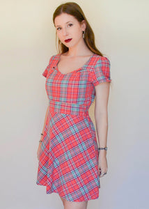 Pretty in Pink Tartan Dress