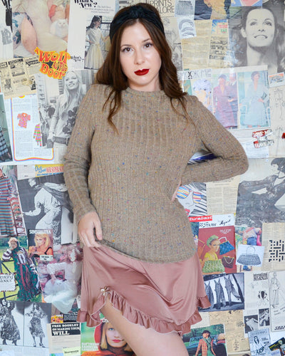 Autumn Beige Rainbow Specks Knit Jumper
