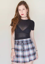 Frayed Flannelette Streamline Skirt
