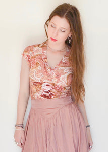 Romantic Roses & Paisley Top
